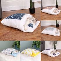 Fashion Printed Spliced Detachable  Pets Sleeping Bag