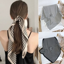 Retro Style Multifunction Striped Scarves