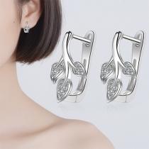 Fresh Style Leaf Shaped Stud Earrings