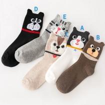 Cute Cartoon Cat Printed Socks