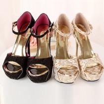 Elegant Super High-heeled with Platform Peep Toe Sandals