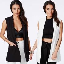 Fashion Solid Color Slim Fit Vest