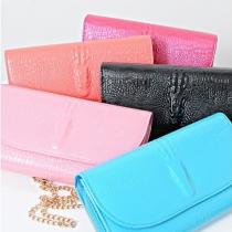 Multi Colors Crocodile Grain Shoulder Messenger Bag