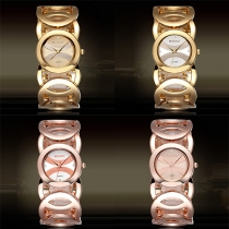 Fashion Hollow Out Alloy Watch Band Round Dial Bracelet Watch