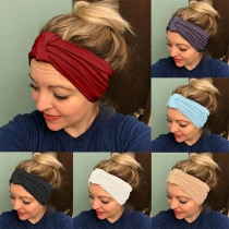 Fashion Solid Color Knotted Sports Headband