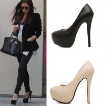Fashion Solid Color Super High-heeled Stiletto Pumps