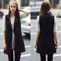 Fashion Solid Color Slim Fit Vest