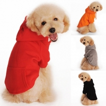 Fashion Solid Color Hooded Pets Sweatshirt
