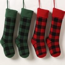Fashion Plaid Christmas Socks