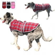 Cute Style Plush Lining Plaid Vest for Pets