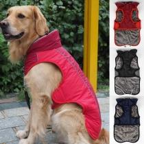 Fashion Contrast Color Plush Lining Vest for Pets Puppy