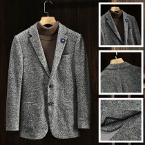 Classic Wool Business Men's Suit Jacket Blazer