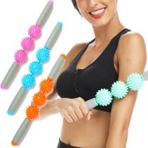 Sports Style Hedgehog Ball Massage Stick Fitness Equipment