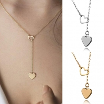 Sweet Style Heart Pendant Necklace