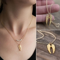 Fashion Wing Pendant Necklace