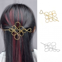 Retro Style Hollow Out Chinese Knot Shaped Hairpin Set