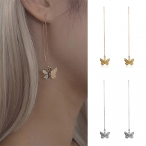 Sweet Style Butterfly Pendant Tassel Earrings