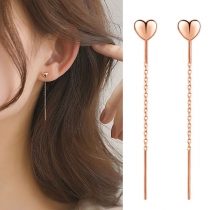Fashion Gold-tone Heart Ear Line