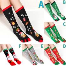 Cute Style Christmas Printed Socks