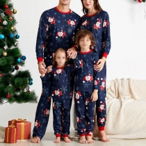 Fashion Christmas Printed Parent-child Nightwear Set