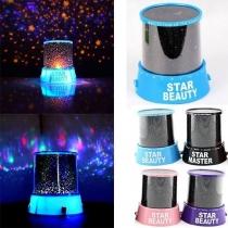 Romantic Blue Star Sky Universal Night Light Dreamlike Start Projector