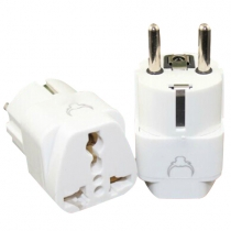 Grounded Universal Plug Adapter for Europe, Germany, France